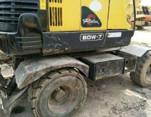 二手现代60W-7轮式挖掘机